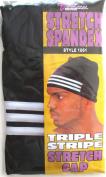 Tommy Triple Stripe Spandex Stretch Cap Du Doo Rag Skull Cap