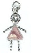 June Sterling Silver Birthstone Girl Charm 317