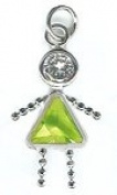 August Sterling Silver Birthstone Girl Charm 317