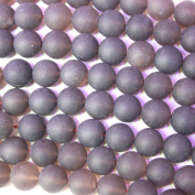 Natural Unpolished Frosted Round Gemstone Loose Beads 12mm