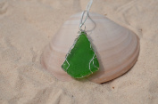 Handwrapped Green Sea Glass Necklace