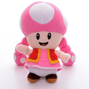 16cm super Mario Toadette Plush Anime Doll Stuffed Animals Cute Soft Collection Toy Best Gift for Kids