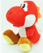17cm super Mario Bros Yoshi Red Plush Anime Doll Stuffed Animals Cute Soft Collection Toy Best Gift for Kids