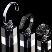 3 Set Clear Acrylic Smart Watch Apple Watch Display Stand Holder