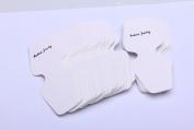 TinFmoon 100Pcs Necklace Earring Bracelet Display Hanger Hanging Cards White