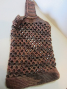 Crocheted Bag For the Beach or Bottle of Wine
