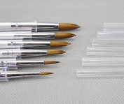 6pcs New Porcelain Ceramic Ermine Brush Pen Set
