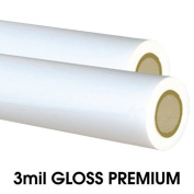 MyBinding.com 3mil Gloss Low Melt Laminating Film - 100cm x 80m (5.7cm Core) Clear