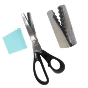 20cm Pinking Shears With Black Pastic Handle