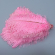 50pcs Natural 8-10inch(20-25cm) Pink Ostrich Feathers for Home Wedding Decoration