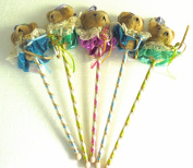 Vintage Teddy Bear Floral Picks