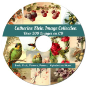 Catherine Klein Image Collection on CD, Over 200 Royalty Free Images, Artwork, Flowers, Birds, Fruit etc.