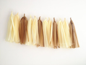 12 X Nude-colour Tissue Paper Tassels for Party Wedding Gold Garland Bunting Pom Pom