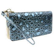 E-Clover Women's Leather Purse Organiser Wallet Zipper Clutch Card Holder