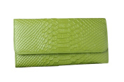 E-Clover Women's Leather Money Clip Wallet Snake Pattern Purse Clutch