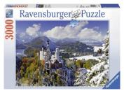 Neuschwanstein Castle in Winter 3000 Piece Puzzle