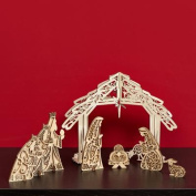 Christmas FLORISH NATIVITY centrepiece Wood Jesue Religious Mary Creche 4045936
