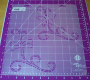17cm Butterfly & Dragonfly Scroll Quilting Stencil