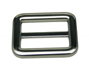 Generic Metal Silvery Rectangle Buckle with Fixed Bar 3.2cm X 2.2cm Inside Dimensions Belt Shoes Strap Keeper Or Backpack Bag Accessories Pack of 4