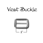 Vest Buckle - Slide Adjuster 2.5cm - Nickel - Qty 10