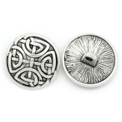 10pc Antiqued Silver Round Sewing Metal Buttons Pattern Carved
