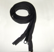 Zipper, 100cm Inch, YKK, Black, #8, Seperating Zipper, Double Metal Slider, Boat Canvas