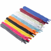 20pcs 23cm Assorted Colour Invisible Zippers Closed Clothes Sewing Craft