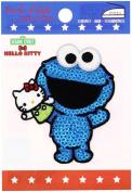 Minoda SESAME × KITTY Sequined Iron Emblem Cookie Monster G01I8422