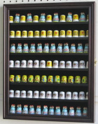91 Thimble Display Case Shadow Box Wall Cabinet, with glass door, TC91-MA