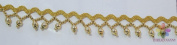 NEW GOLD BEADS TRIM LACE 7.9m DRESS FABRIC BELT FRINGE GREAT FOR CURTAINS from ThreadNanny