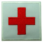 Red Cross Medic DIY Applique Embroidered Sew Iron on Patch MD-001