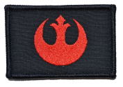 Rebel Alliance Emblem Star Wars 2x3 Military Patch / Morale Patch - Black with Red