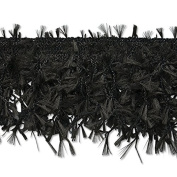 Expo International Hairy Gimp Fringe Trim Embellishment, 10-Yard, Black