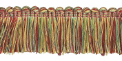 5 Yard Value Pack - Gold, Wine , Green 3.2cm Imperial II Brush Fringe Style# 0150IBPK Colour