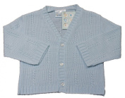 Baby boys V neck knitted cardigan BLUE