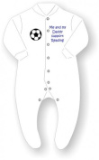 Me and My Daddy Support Reading Football Babygrow / Sleepsuit