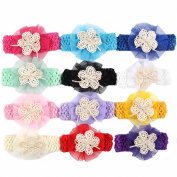 Win8Fong Baby's Headbands Chiffion Flower Hair Bow