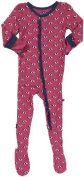 KicKee Pants Little Girls' Print Ruffle Footie (Toddler) - Flamingo Umbrella - 4T Colour