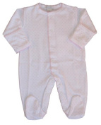 Kissy Kissy Baby Dots Footie-White with Pink Dots-3-6 Months Colour