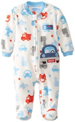 BON BEBE Babys Newborn 1 Cool Ride Micro Fleece Zip Front Footed Coverall, Multi, 0-3 Months Colour