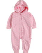 Vaenait Baby 6-24M Boys Girls Infant Hooded Jumpsuit Rompers Pink Star