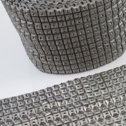 Beads4crafts Half Metre Silver Acrylic Trimming Haberdashery Sewing Dressmaking He487