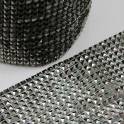 Beads4crafts 1/2 Metre Dark Grey Acrylic Trimming Sewing Dressmaking Accessorise He486