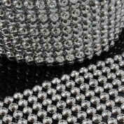 Beads4crafts 1/2 Metre Silver Acrylic Trimming Haberdashery Cake Decorating He514