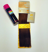 American Dream Yaki Straight Original American Indian Human Hair Weft/Weave 30cm Long Colour 2 Dark Brown with Soft & Silky Hair Extension Spray