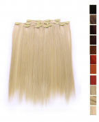 Prettyland K170 -7 piece Clip-In Straight Extensions Set 50cm 20 inch - BL20 light Ash Blonde