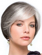 HMY Short Synthetic Wigs Natural Looking Short Mixed Colour Side Bangs Straight Womens Wigs