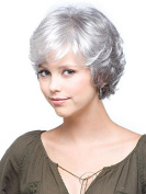 HMY Short Wigs Natural Looking Short Grey Straight Womens Wigs