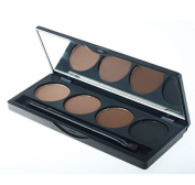 ValueMakers Professional 4 Colour Eyebrow Powder/Shadow Palette With Double Ended Brush Make Up Eyebrows Cosmetics Waterproof.
