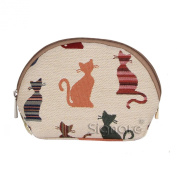 Signare Womens Ladies Small Cosmetic Bag Cheeky Cat